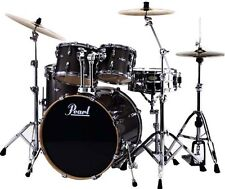 Pearl Vision 5pc Birch Drum Shell Pack w/ Sensitone Snare Graphite Lacquer