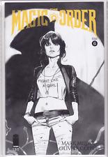 THE MAGIC ORDER #6 Olivier Coipel Black & White Sketch Dealer Incent VARIANT NM+