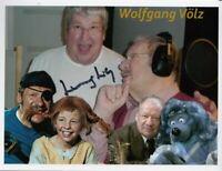 Wolfgang Völz, Raumpatrouille,Edgar Wallace,Käpt'n Blaubär original signiert !!