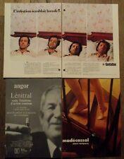 Lot 3 publicités anciennes,medicaments,pharmacie,Lenitral,Madecassol,Gentalline