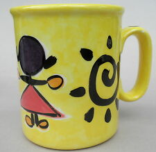 Coffee Mug by Carrie Wroot Stylized Kids Stick People 20oz Art Pottery Canada