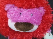 Laughing Valentine Plush Lion Hallmark Vibrating Purrcy Pink Red Stuffed Animal