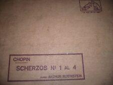 PIANO 4 x 78 rpm RECORDS Gramofono ARTHUR RUBINSTEIN Scherzo 1, 2, 3 & 4 CHOPIN