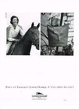 PUBLICITE ADVERTISING 064  1990  LONGCHAMP   sacs & bagages