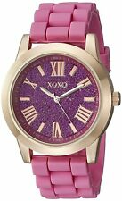 XOXO Women's Watch XO8086 Rose Gold Pink Casual Silicone