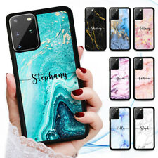 Personalised Name Marble Case Cover for Samsung Note 20 10 Plus A51 A21S A11 A20