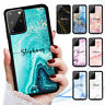 Personalised Name Marble Case Cover for Samsung S21 S20 FE S10 S9 S8 Plus Ultra