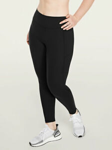 Pink Victoria's Secret Black Logo SMALL Cozy High Waist Fleece Lined Legging VS