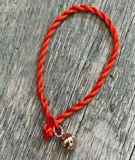 Rose Gold Lucky Bell Red Faith Rope String Protection Red Bracelet Adjustable
