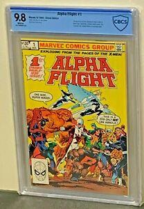 ALPHA FLIGHT #1 9.8 HIGHEST Graded 13 1st Appearance 1983 Marvel Comics CGC<CBCS