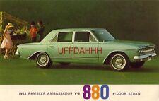 1963 RAMBLER AMBASSADOR V-8 880 4-DOOR SEDAN - WITH REAL GET-UP-AND-GO