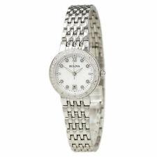 Bulova Women's 96R203 Diamond Dial Quartz Stainless Steel Watch