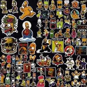 The Simpsons Stickers 50+ Cool Designs! Laptop Car Motorcycle Skateboard Vinyl
