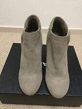 NIB Chanel 14B Beige Distressed Leather Chain Around Short Ankle Boot 39.5 $1325