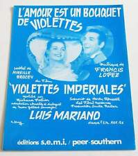 Partition sheet music LUIS MARIANO : L'amour est un Bouquet de Violettes * 50's