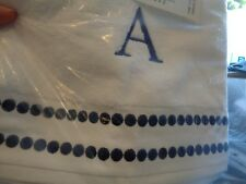 Pottery Barn Teen Pop dot royal navy hand towels monogrammed A New