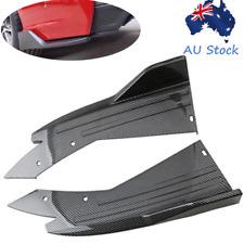 2x Carbon Fiber Look Car Rear Bumper Spoiler Wrap Angle Splitter Side Wing Lips