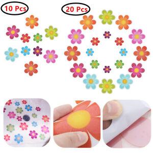 20Pcs Non Slip Flower Applique Bathtub Stickers Adhesive Decals Safety Treads