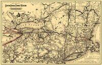 Boston Hoosac Tunnel and Western Railway - Colton 1881 - 23.00 x 35.87