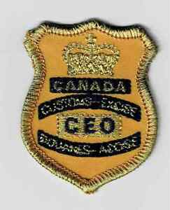 """Non-issued Canada Customs """"CEO"""" ball cap patch"""