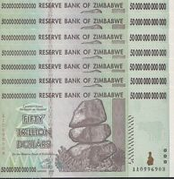 7x 50 TRILLION ZIMBABWE DOLLAR MONEY CURRENCY.UNC* USA SELLER*