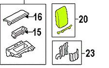 Audi A4 (B8) 09 - 12 OEM Center Console Armrest 8K0864207FDEQ Leather GENUINE