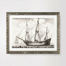 OLD SAIL SHIP BOAT ILLUSTRATION NAUTICAL ART PRINT Poster Decor Picture A4 A3 A2
