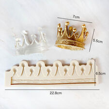Vintage Silicone Cake Mold Crown Fondant Kings Queens Hat Chocolate Baking Mould