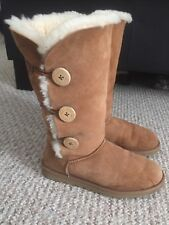 Ugg Boots Chestnut Tall Bailey Button Size EU40