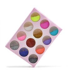 12pcs Mix Color Glitter Powder Dust Set Acrylic Manicure Nail Art Diy Decoration