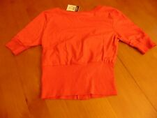 rue21 Bright Pink Cardigan, short sleeve, button down, cropped/short style, size