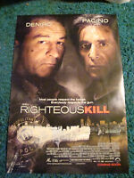 RIGHTEOUS KILL - MOVIE POSTER WITH ROBERT DE NIRO AND AL PACINO