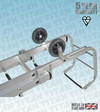 More details for titan aluminium roof ladders complete with hook, singles or doubles, 10 sizes