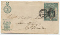 1888 Keystone Watch Club Co ad cover stamp collar allover reverse [3878]