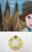 TALKING HEADS  And She Was / And She Was dub  45 with PicSleeve  DAVID BYRNE