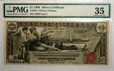 "1896 $1 ""Educational"" Silver Certificate PMG 35 Choice Very Fine Fr.#224 See Pix"