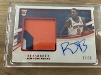 2019-20 Immaculate RJ Barrett RPA RC Rookie Premium Patch RED on Card AUTO 7/10