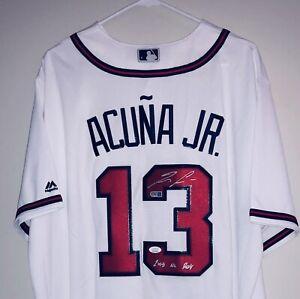 Ronald Acuna Jr. Signed Authentic Atlanta Braves Majestic Auto Jersey JSA USASM