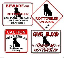 Rottweiler Warning Signs & Plaques