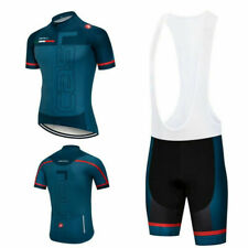 Men/'s POC Cycling Suit Jersey Road Bike Short Sleeve Bib Gel Racing Kit S-3XL