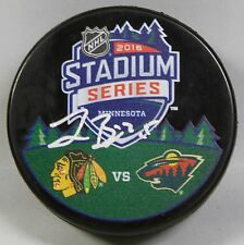 JONAS BRODIN Signed 2016 STADIUM SERIES BLACKHAWKS VS WILD HOCKEY PUCK! 1006512