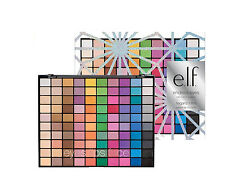 E.L.F ELF 100 PC EYESHADOW PALETTE - BRIGHT YELLOW PINK ORANGE BLUE GREY BLACK
