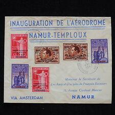 WS-H149 BELGIUM - Netherlands, 1947 Inauguration Aerodrome Namur-Temploux Cover