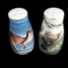Australian Souvenir 1 Pair Salt & Pepper Shakers Kangaroo Koala with Joey