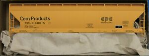 HO Scale - ACCURAIL 81371 CORN PRODUCTS  3 - Bay ACF Covered Hopper - KIT