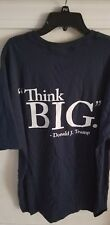 "OFFICIAL AUTHENTIC ORIGINAL rare  Donald Trump University t shirt XL ""Think Big"""