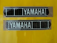 YAMAHA YZ 250 400 465 VINTAGE PERFORATED TANK DECALS GRAPHICS twinshock blk