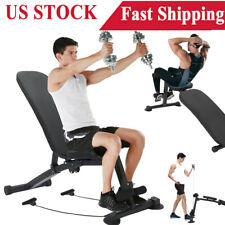 Adjustable Weight Bench Press Flat Incline Lifting Fitness Gym Exercise Workout