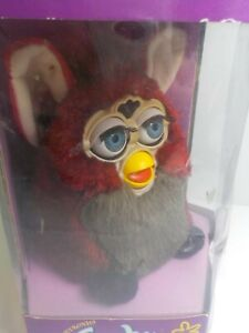 Vintage RED WOLF FURBY - 1998  NEW IN THE BOX   Box is Torn