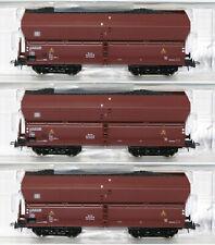 Roco H0 56332-S Selbstentladewagen mit Kohleeinsatz der DB (3 Stück) - NEU + OVP